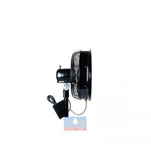 """Ventilador oscilante para montaje de pared de 18"""" 110v negro"""